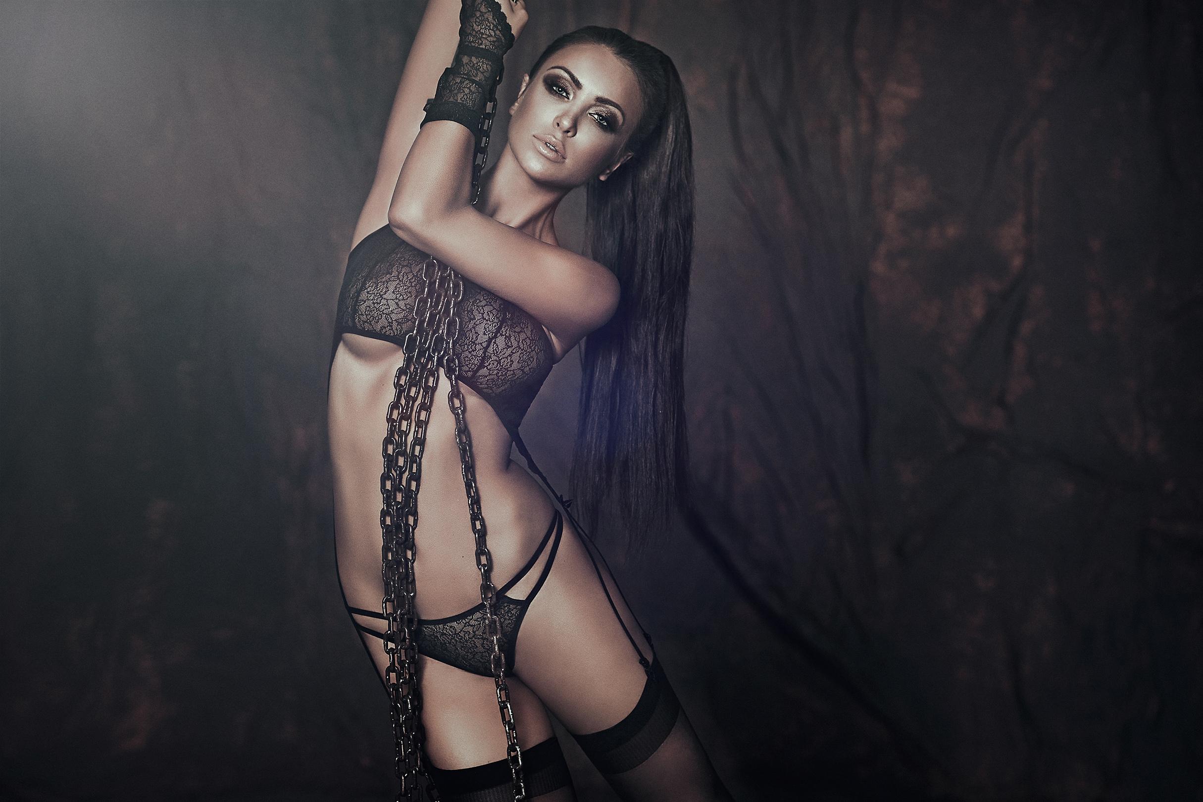 hot women wearing sexy lingerie