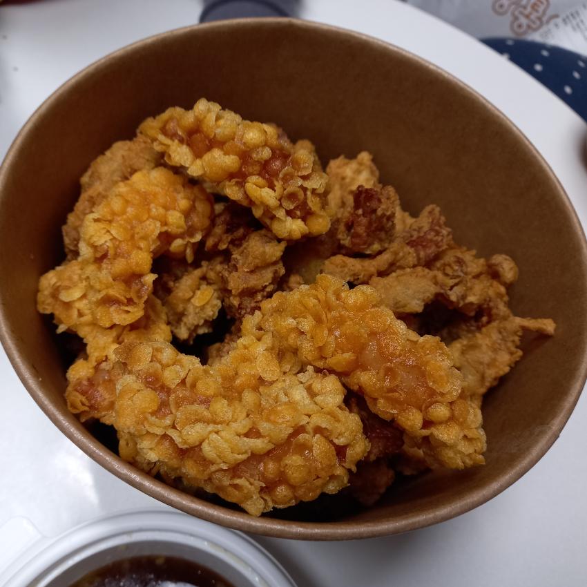 노랑통닭 메뉴추천 알싸한 마늘치킨