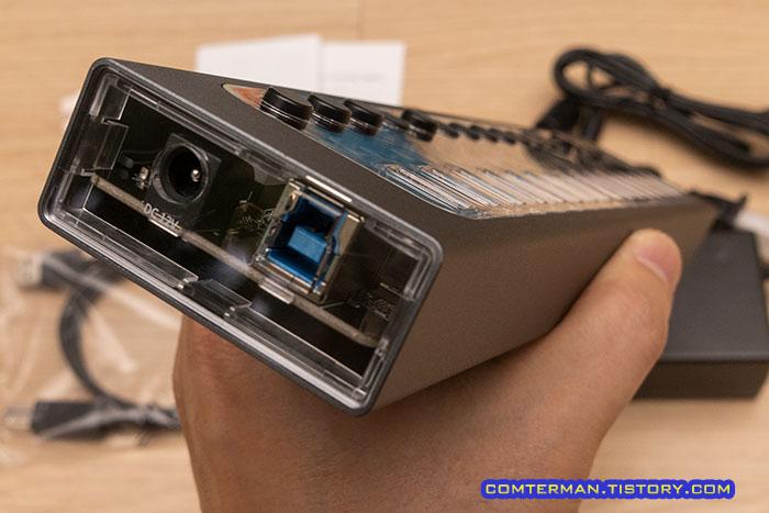 오리코 AT2U3-16AB 전원 USB 포트