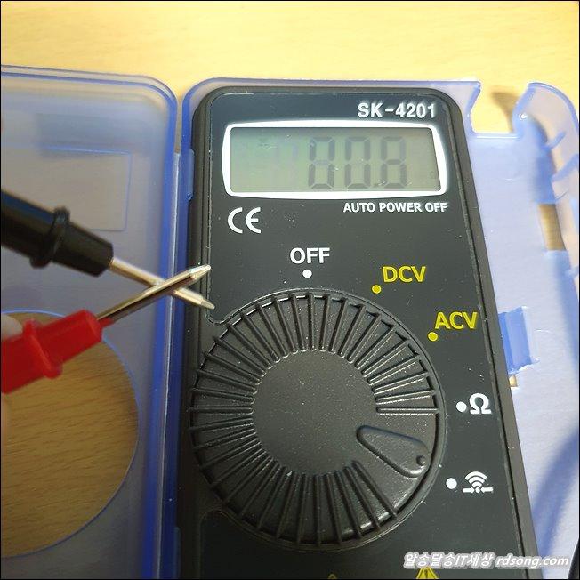 디지털 멀티 테스터기 DCV ACV 전압측정 저항 통전측정