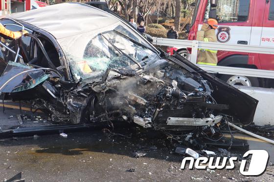 광주 농성동 교통사고 무면허 10대 농성지하차도 3중 추돌