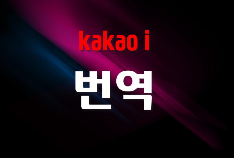 카카오 번역 서비스