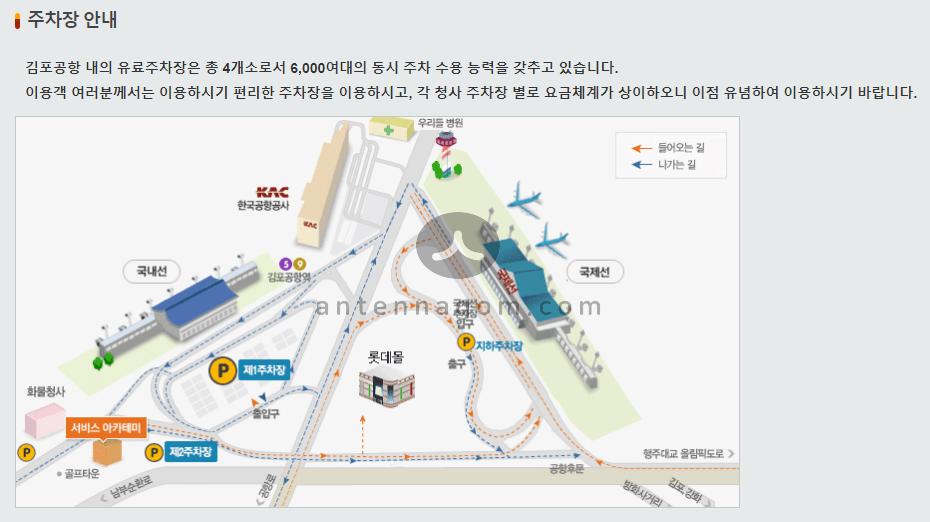김포공항 주차장위치