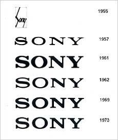 소니 로고의 변천