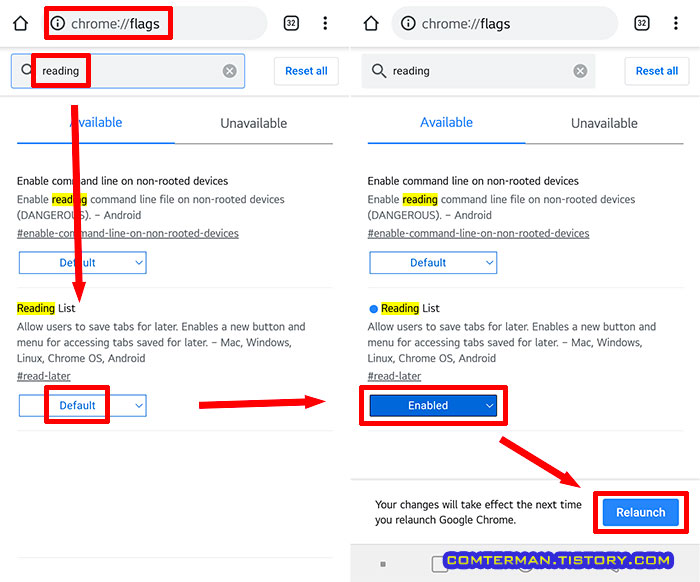 chrome flags reading list