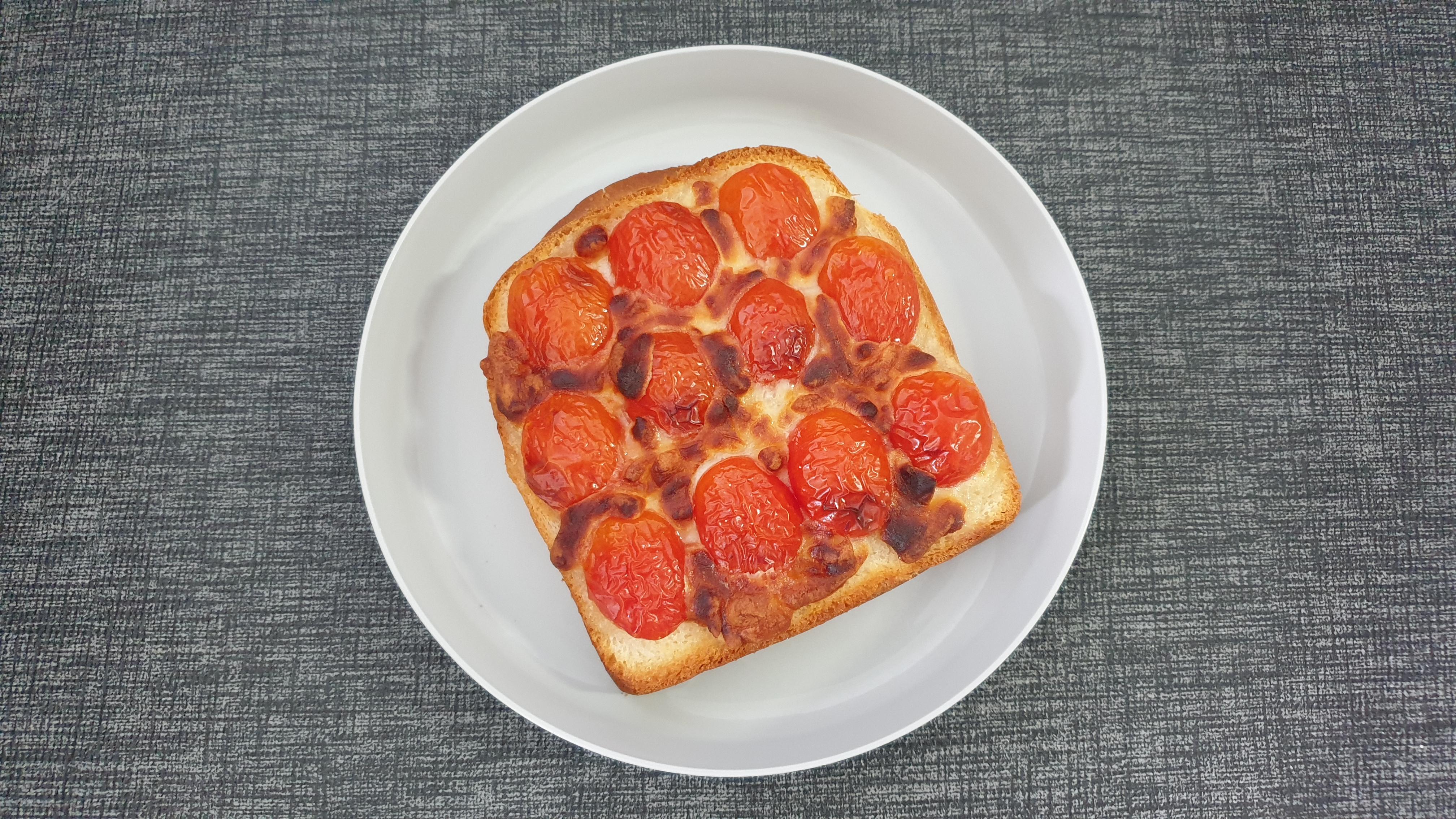 에어프라이어 방울토마토 토스트