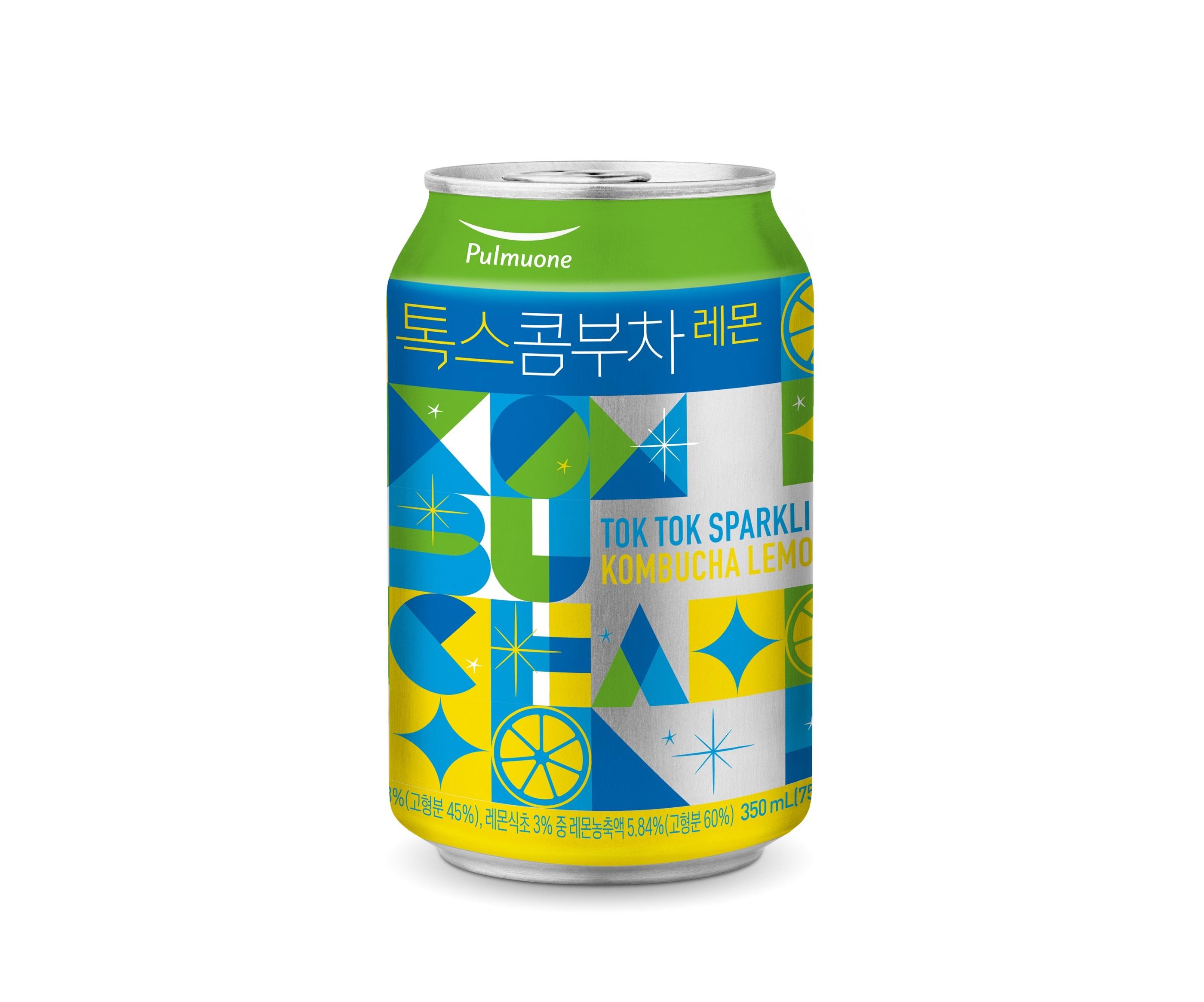 식물성 유산균이 들어간 발효 스파클링 음료... 풀무원녹즙 <톡스콤부차 레몬>