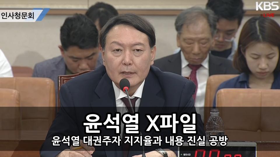 윤석열 X파일 - 윤석열 대권주자 지지율과 내용 진실 공방