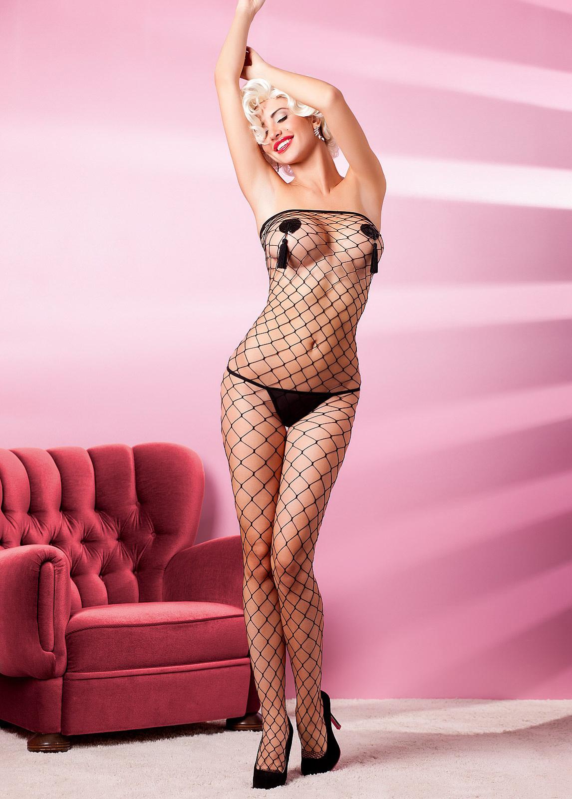 hot women wearing mesh lingerie - Monika Pietrasinska