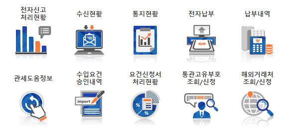 개인통관고유부호 조회/신청 메뉴