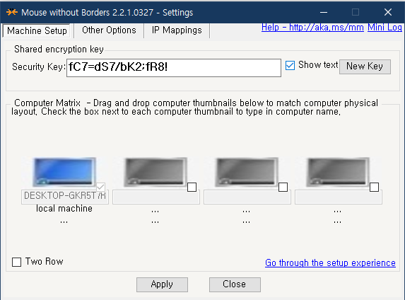 윈도우10 mouse without borders 설정 방법 사진 3
