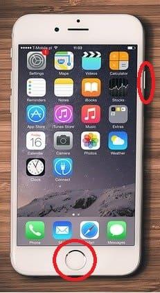 아이폰 전원 버튼 홈 버튼 위치설명