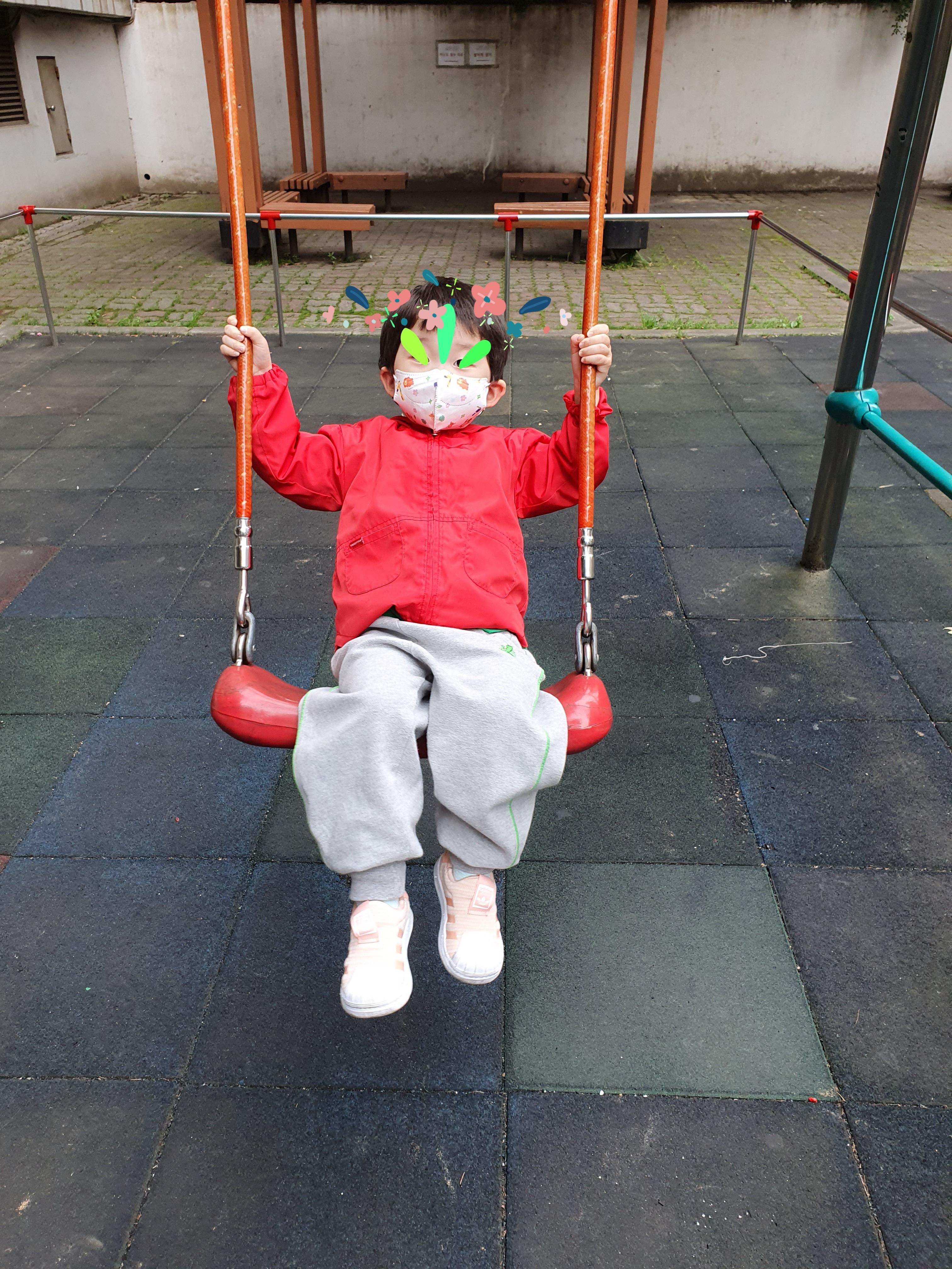 권브라더스 영유아마스크 후기(찰떡오리마스크와 핑키마스크 소형 착용)