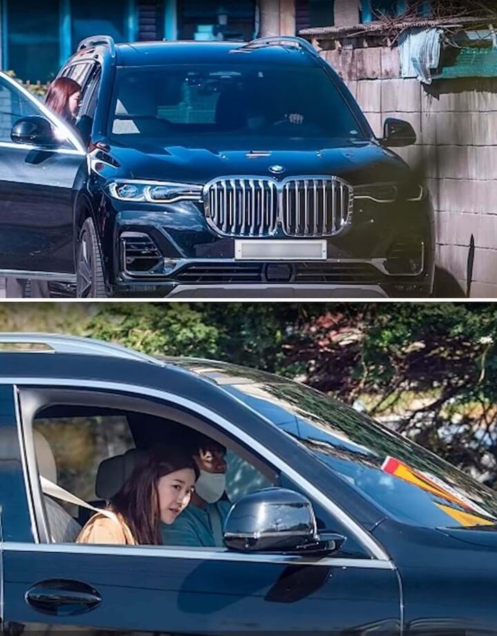 이다인-이승기-자동차데이트-BMW-X7