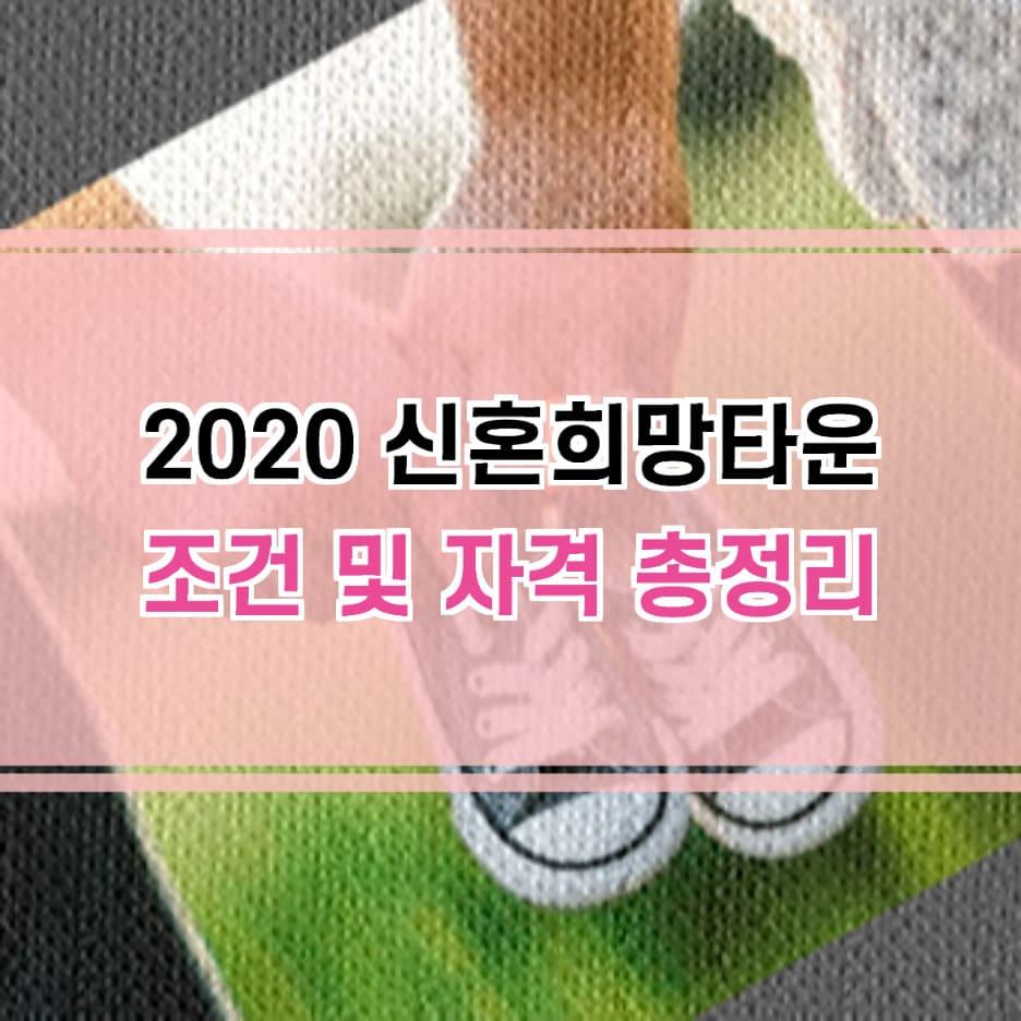 2020 신혼희망타운 조건 자격
