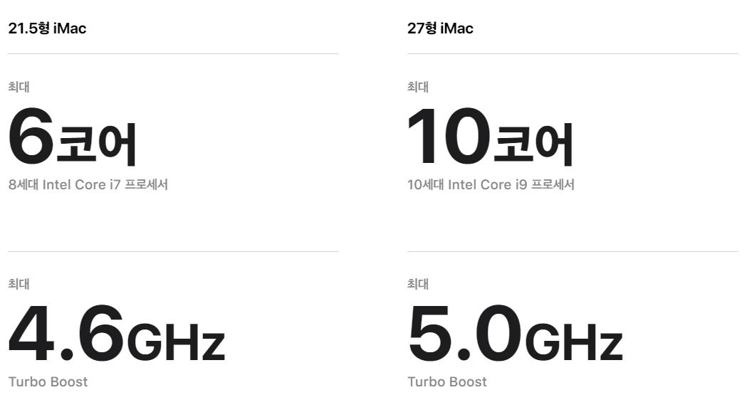 아이맥-제품-스팩-비교-자료