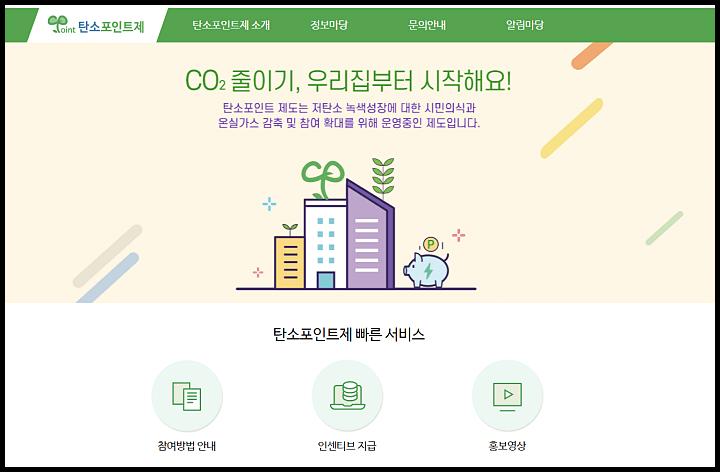 탄소포인트제-신청-홈페이지