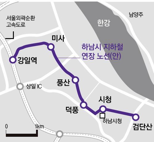 지하철-5호선-하남-연장-노선도