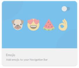 Navbar Apps emoji 기능
