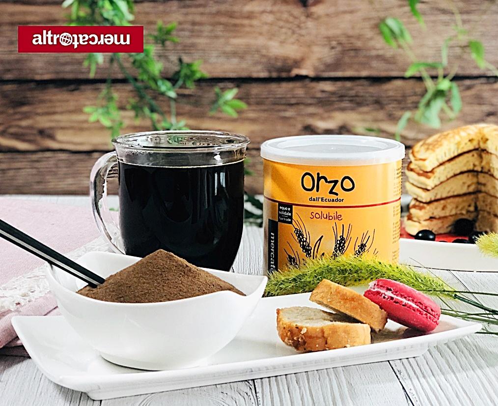 따뜻한 오르조 커피