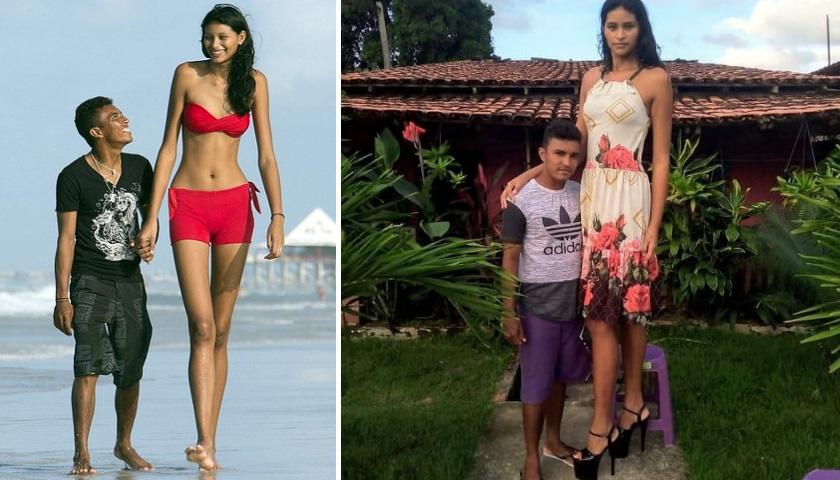 키 163cm 남성과 결혼한 키 207cm 브라질 미녀