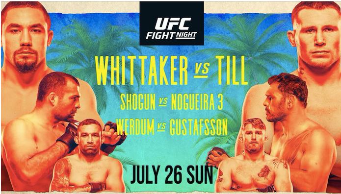 UFC 파이트아일랜드3 휘태커 VS 틸 프릴림카드 감상후기 - 2.0 버전으로 돌아온 나다니엘 우드