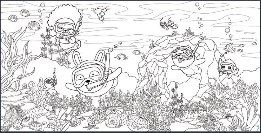스쿠버다이빙-프렌즈-도안-다운로드(이미지-출처: http://papastore.co.kr/)