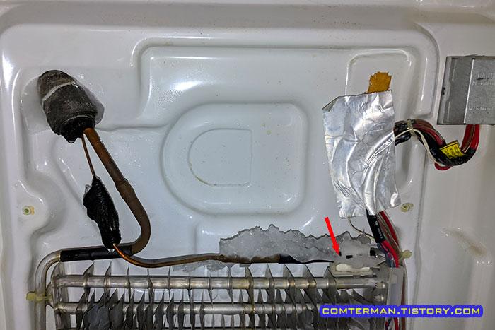 지펠 냉장고 냉장실 제상센서 위치