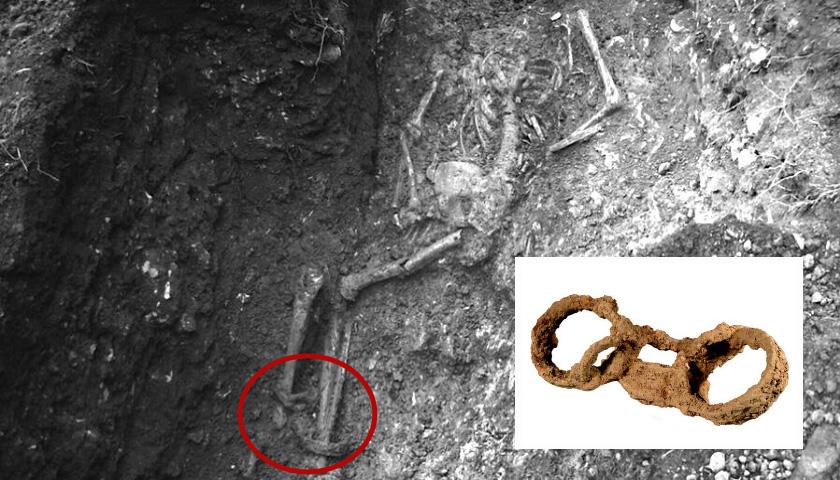 족쇄에 묶인 1800년 전 '로마군의 노예' 유골 발견