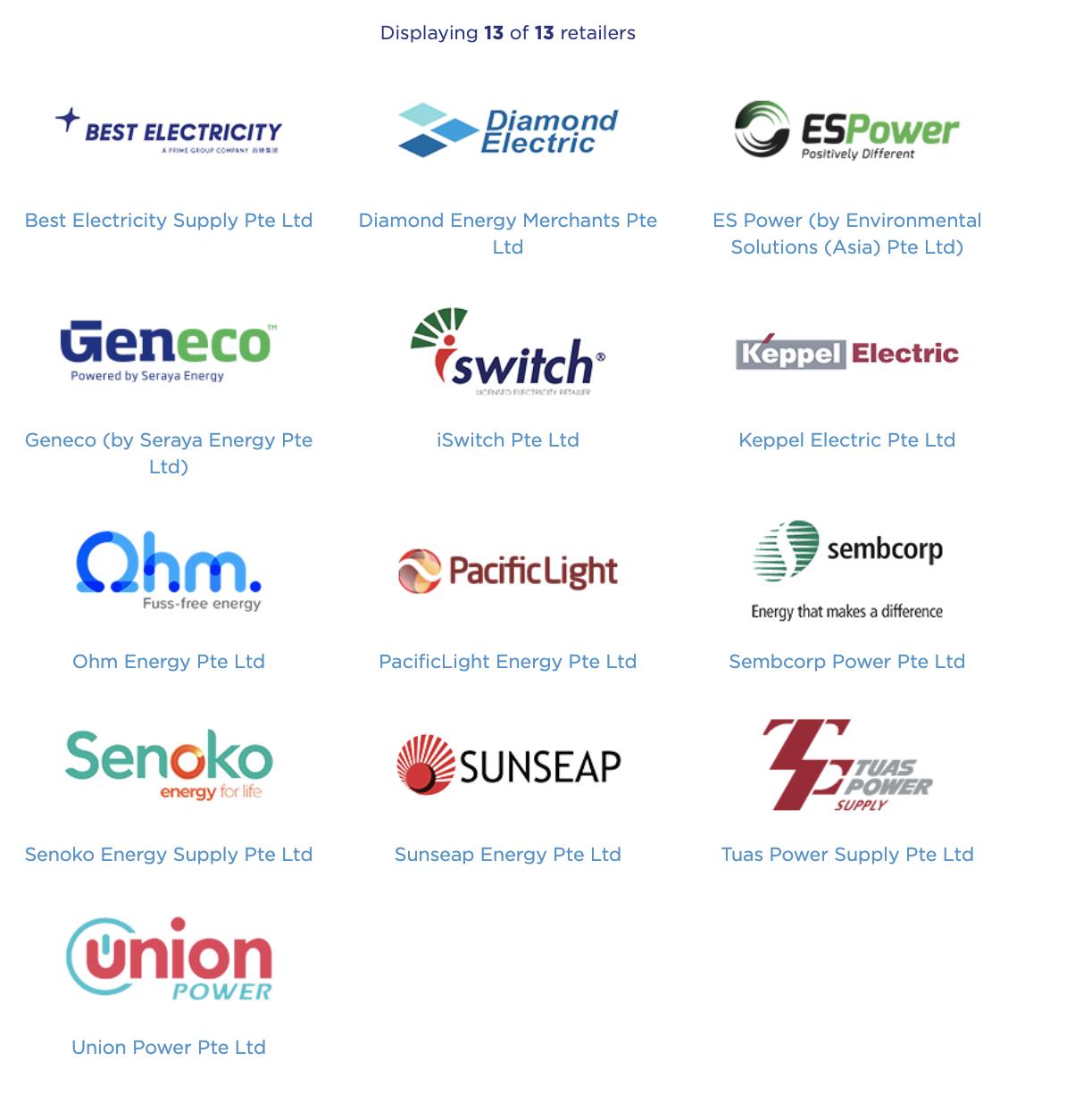 [싱가폴살이] 전기 소매업체로 변경하기 OEM(Open Electricity Market)/싱가포르 전기 수도세/Geneco/Ohm