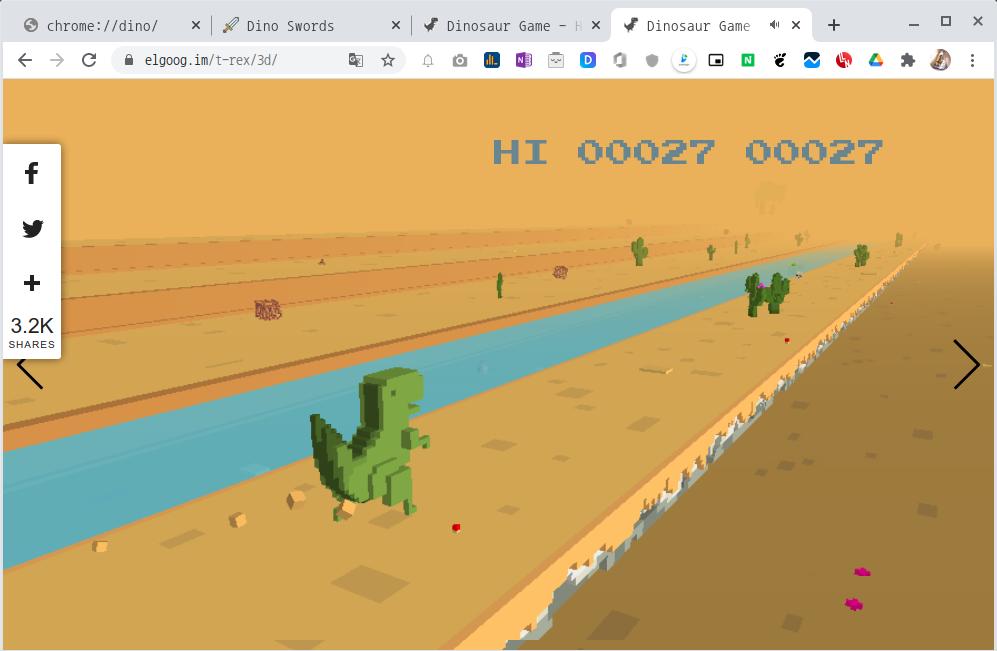 퀄리티 짱인 3D Dino