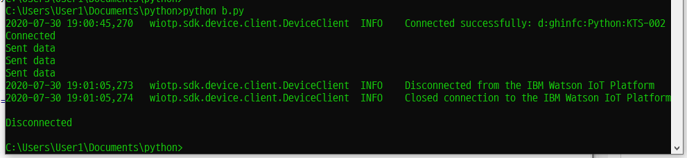 파이썬 실행 결과 화면