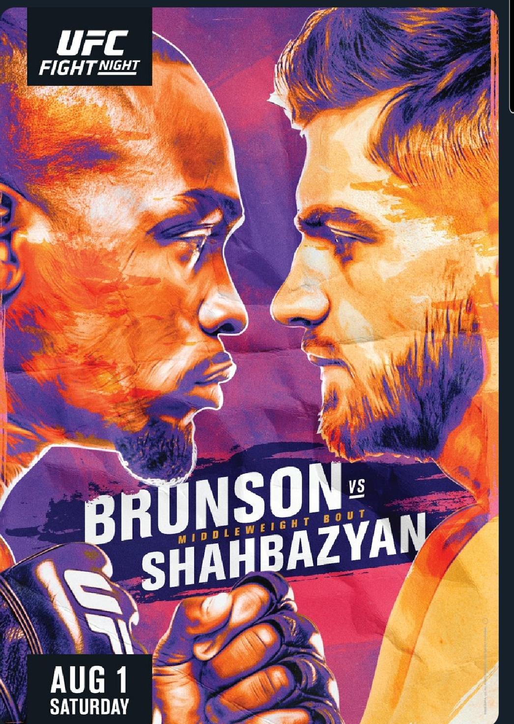 [UFC 매치업 뉴스] 에드먼 샤바지안 VS 데렉 브런슨 8월2일 대회 메인이벤트로 격상