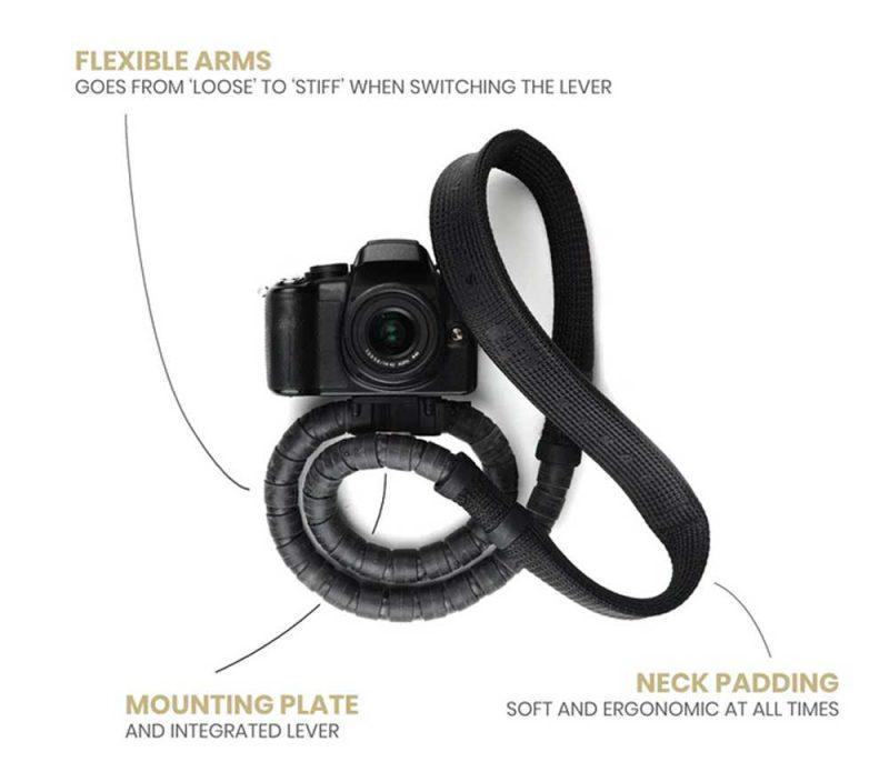 카메라 스트랩이 삼각대로 변신하는 콘다(Conda) 카메라 스트랩