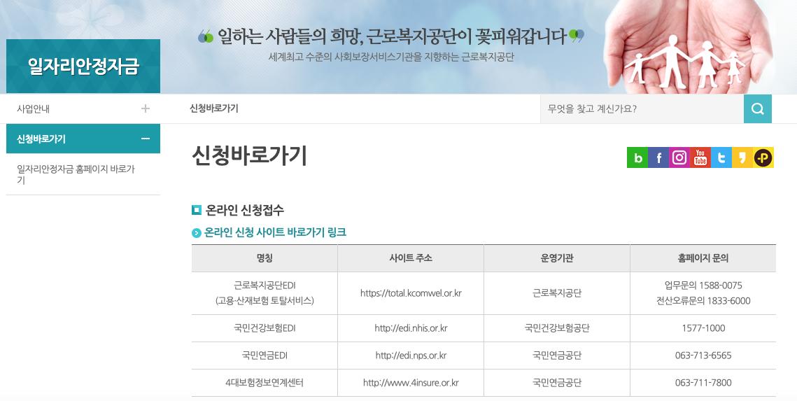 근로복지공단_일자리안정자금신청안내