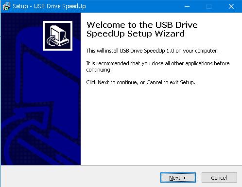 윈도우10 USB 복사 속도 개선
