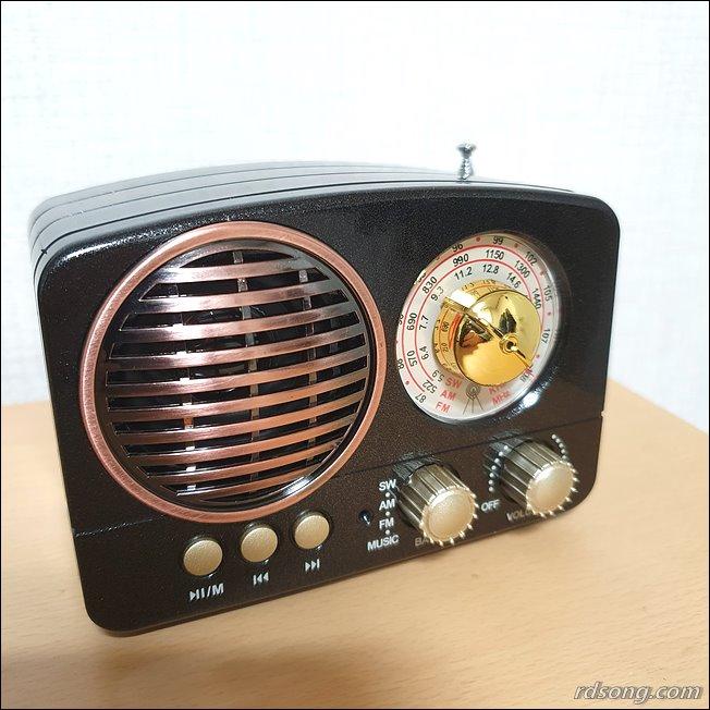블루투스 스피커 TB280 - 클래식한 휴대용 블루투스 라디오 스피커 후기3