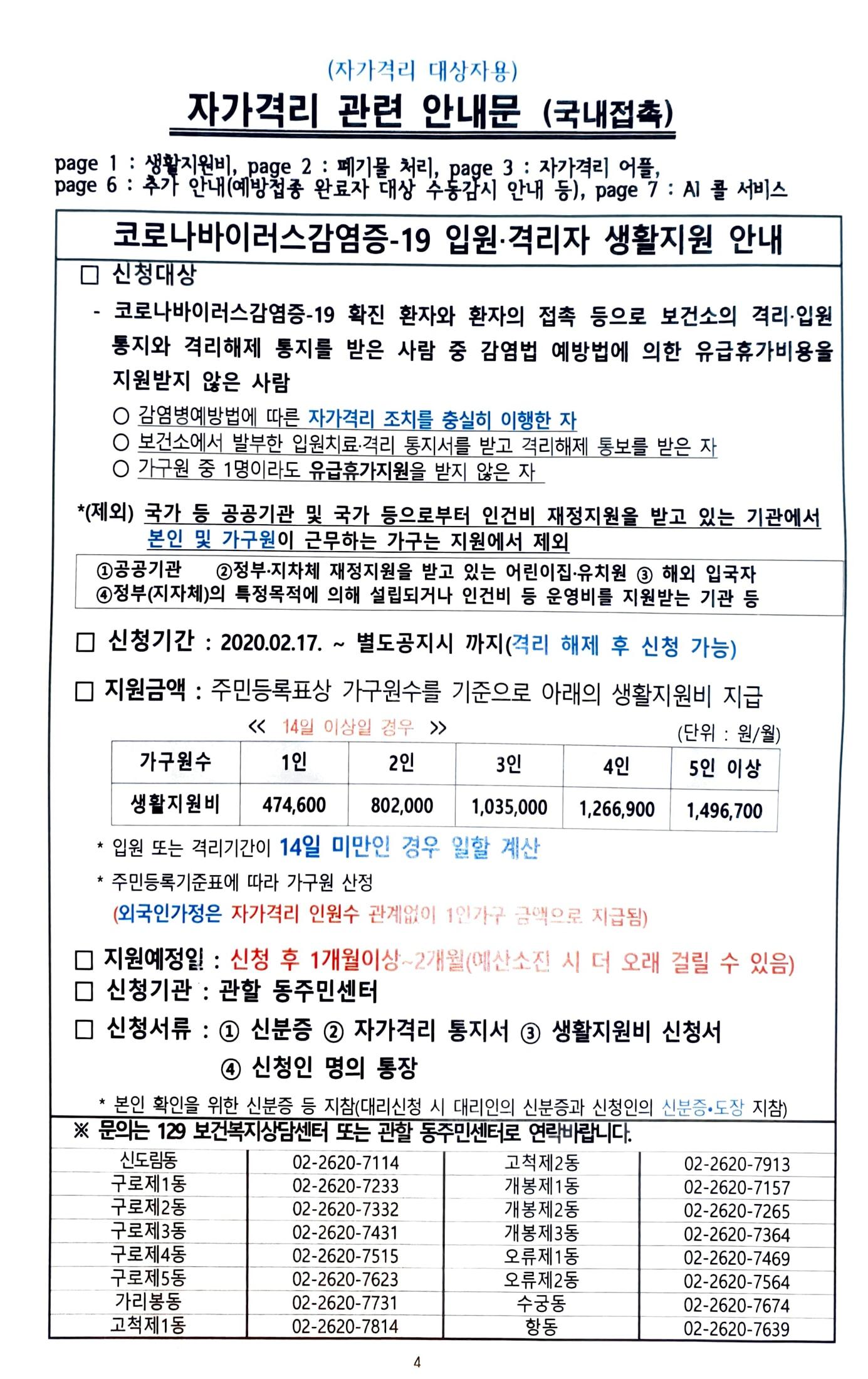 코로나 완치자, 코로나 생활지원금 신청(주민센터)/ 실비보험 청구
