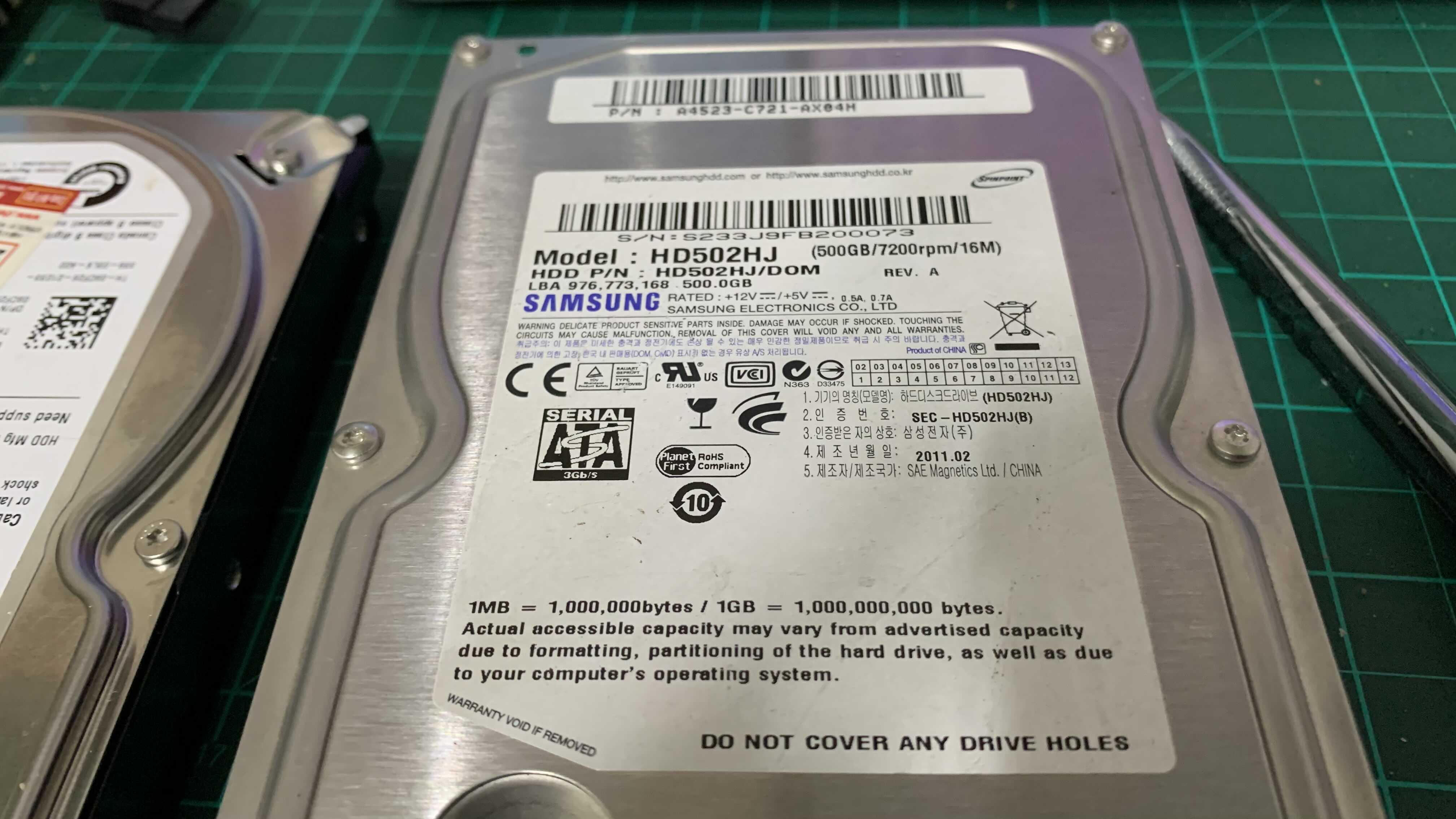 외장하드케이스 USB3.0 배송 중 데스크탑 컴퓨터 HDD 500GB 노트북에서 사용하기