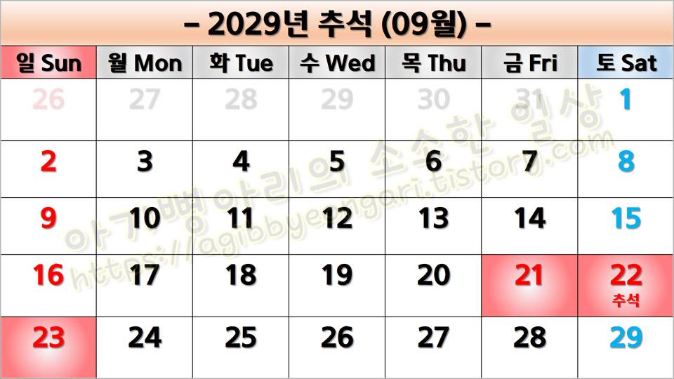 2029년추석