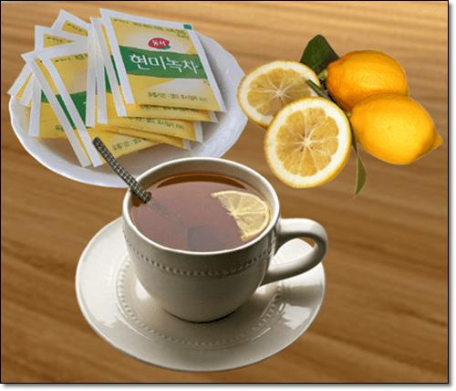 레몬 현미녹차