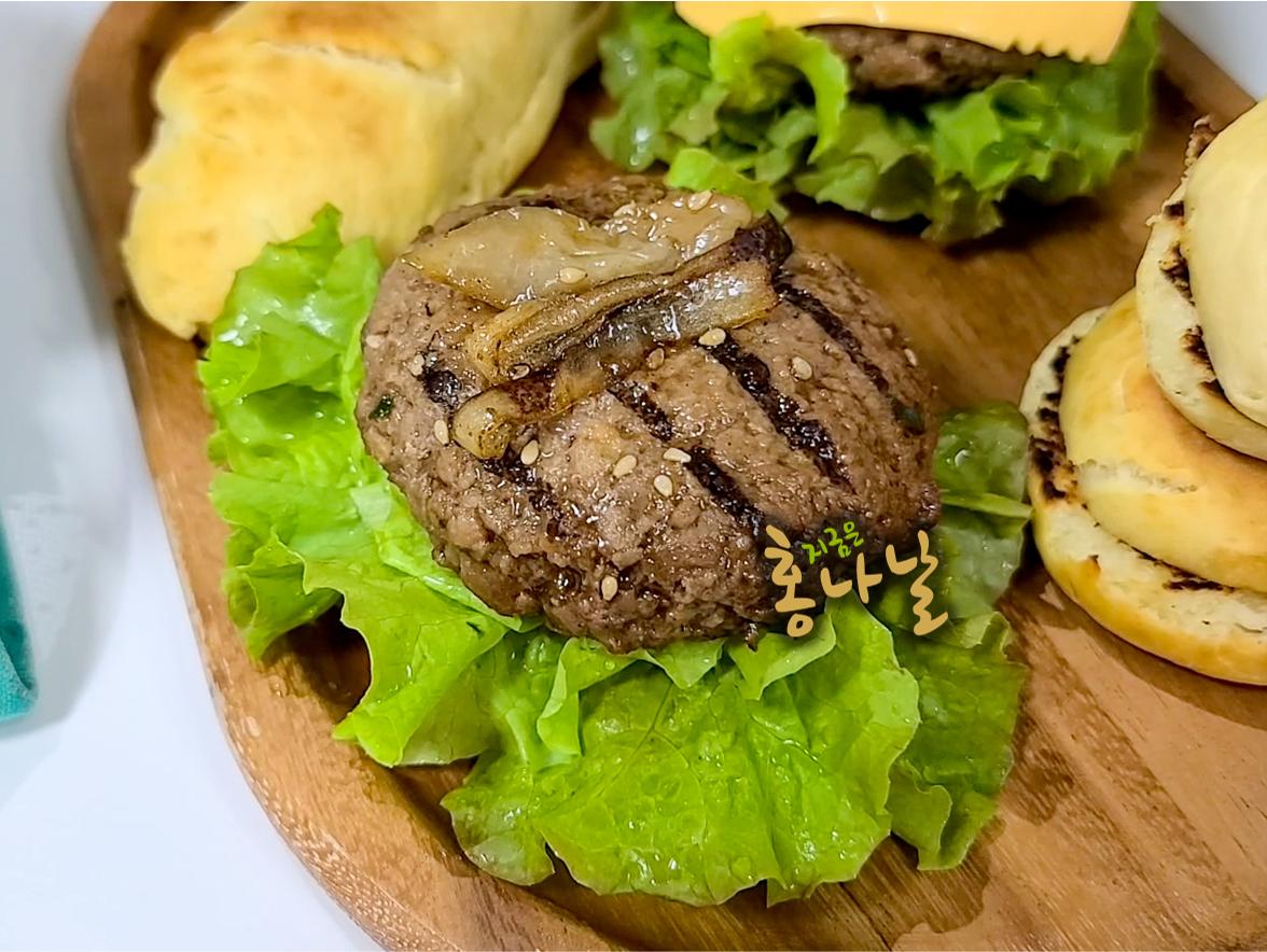 [햄버거] 양파 올리기