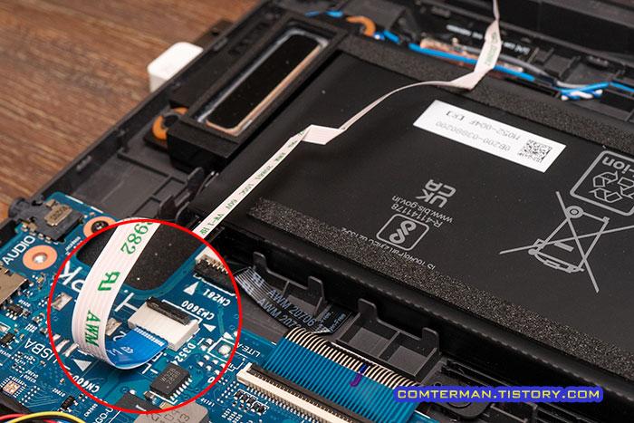 ROG Strix G17 G713QM 분해 필름 케이블