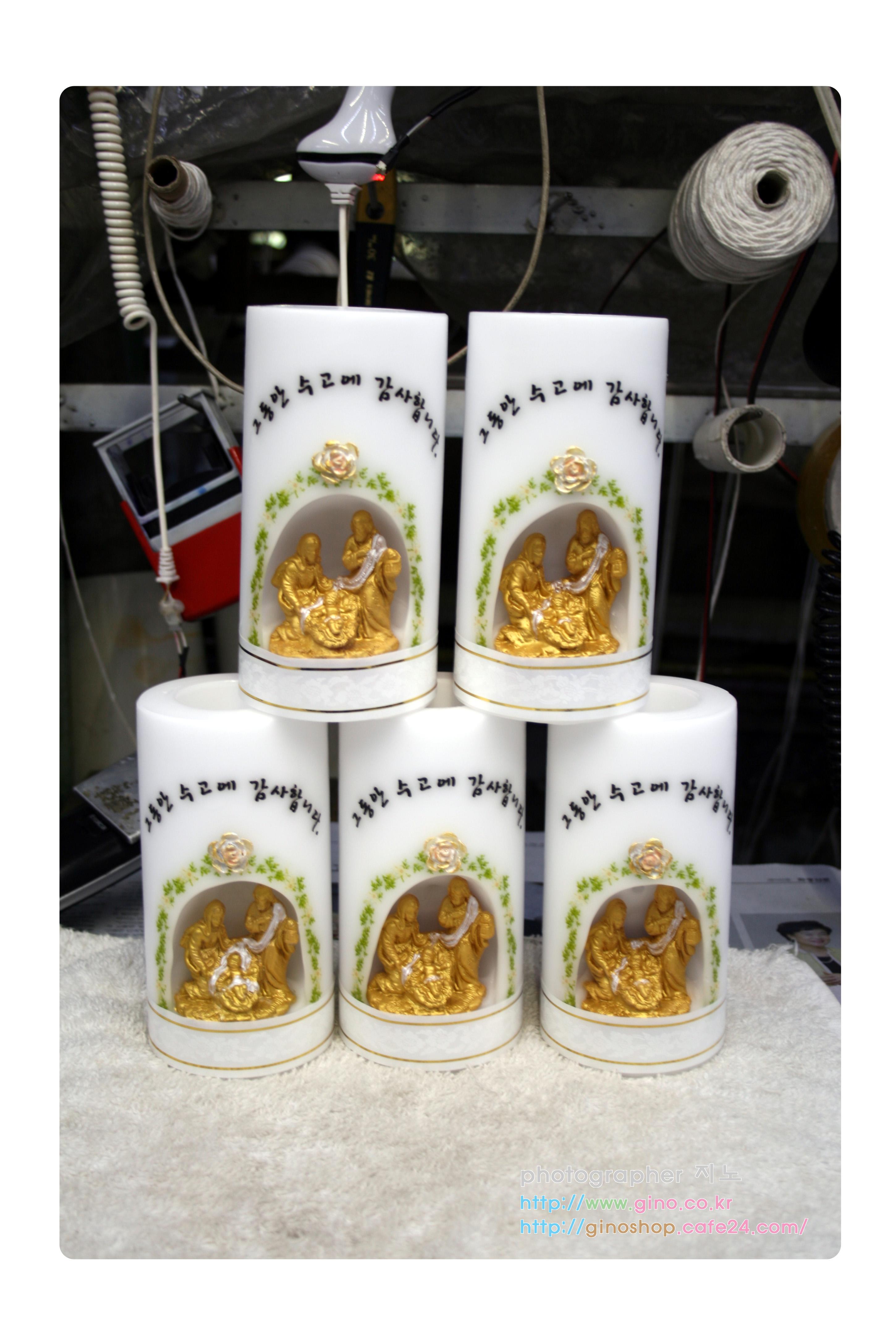 75*15cm 성가정 조각 선물 양초 캔들