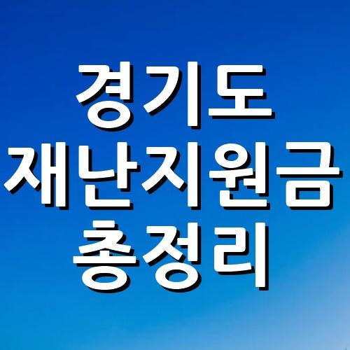 경기도 3차 재난지원금 신청방법