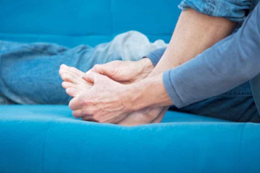 통풍, 발목, 관절염