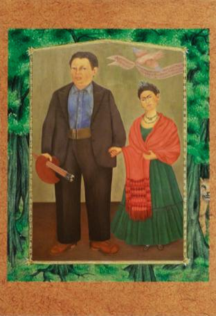 'Frieda and Diego Rivera', Frida Kahlo, oil on canvas, 100×79cm, 1931