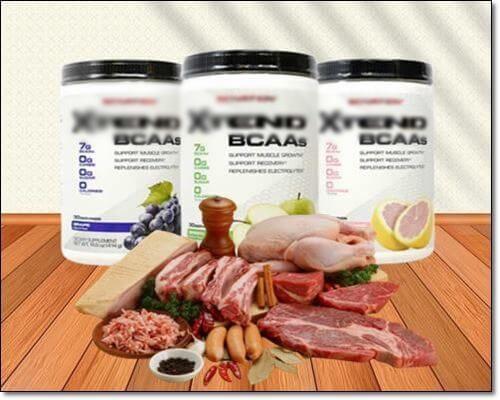 BCAA보충제와 고기