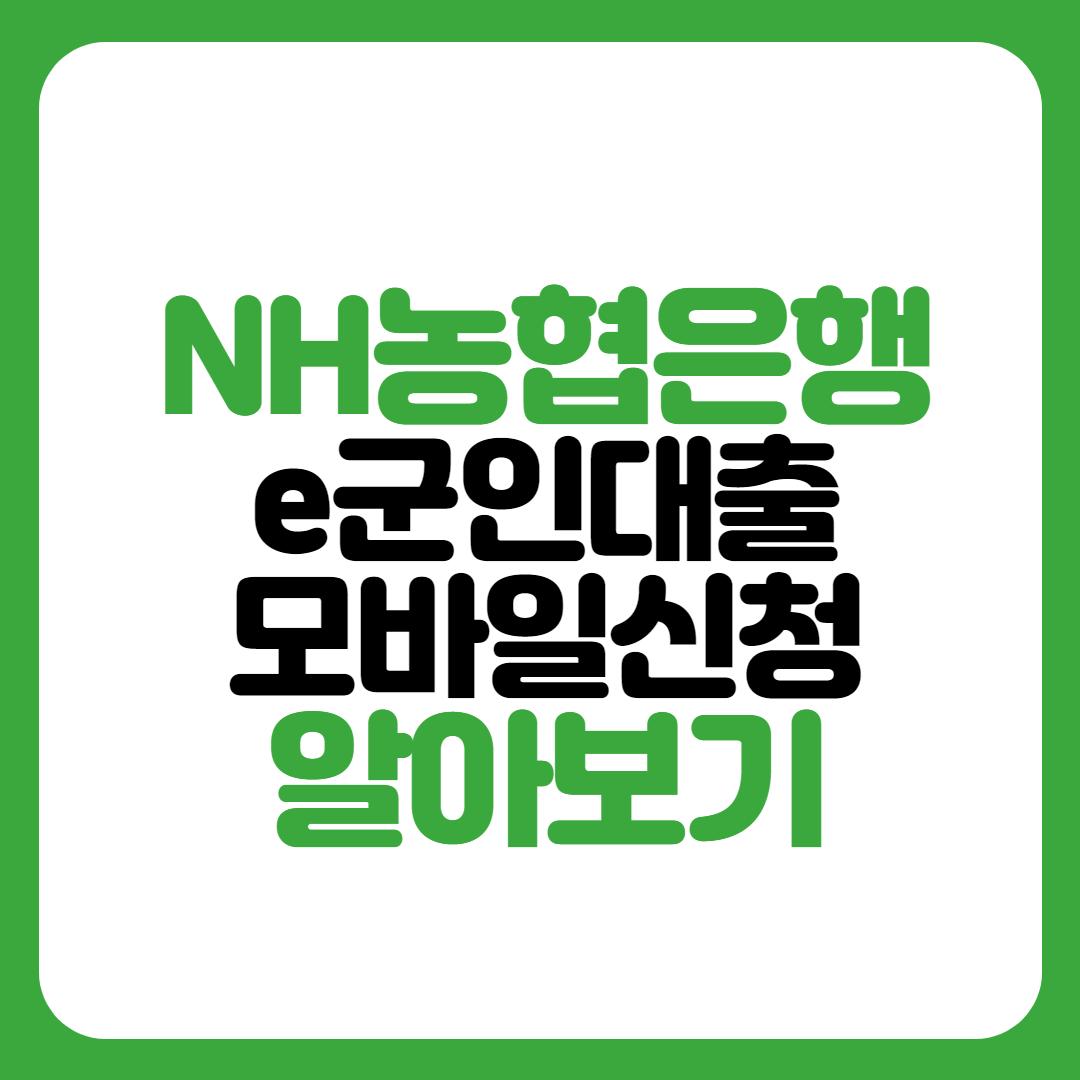 NH농협은행 e군인대출