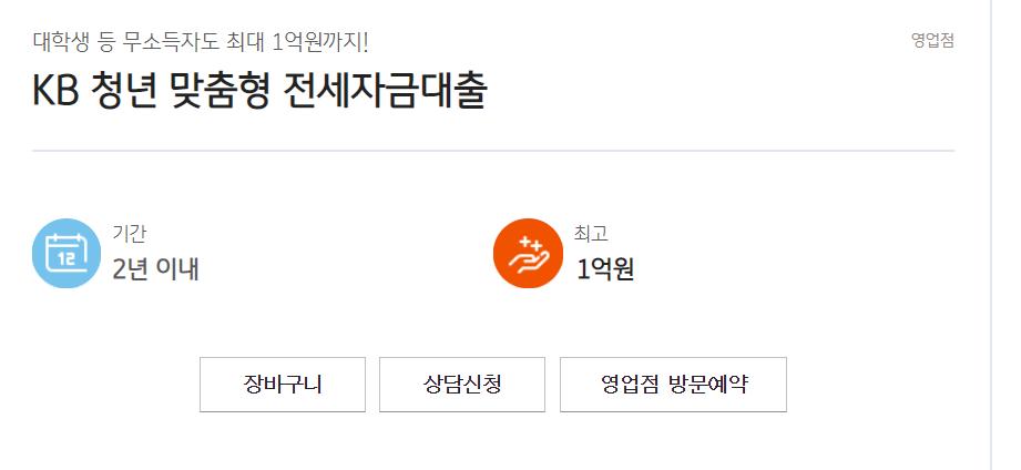 """국민은행 청년 맞춤형 전세자금 대출"""" data-ke-mobilestyle="""
